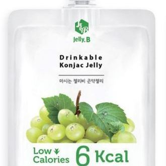 Drinkable Konjac Jelly Drink green grape_ Pouch pack 150ml