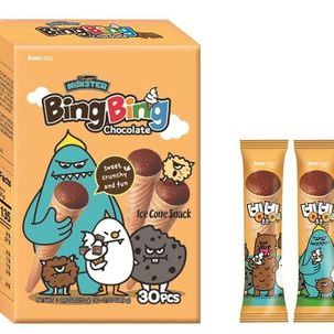 Sweet Monster Ice cone snack Chocolate flavor_family pack(30pcs)