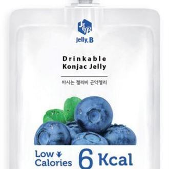 Drinkable Konjac Jelly Drink blueberry_ Pouch pack 150ml